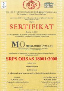 SRPS OHSAS 18001:2008